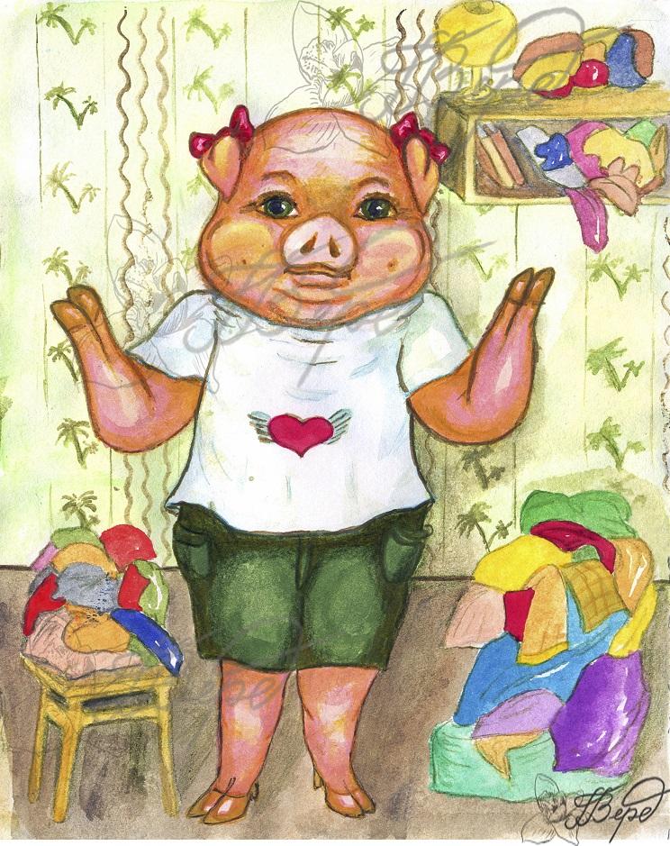 Свинка и ботинки. Рис.2